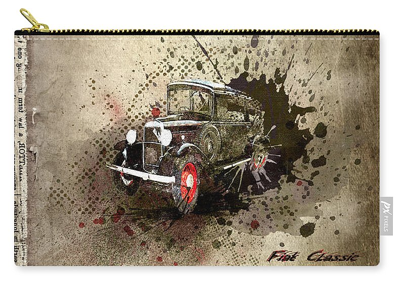 Active Carry-all Pouch featuring the digital art Fiat Classic by Svetlana Sewell