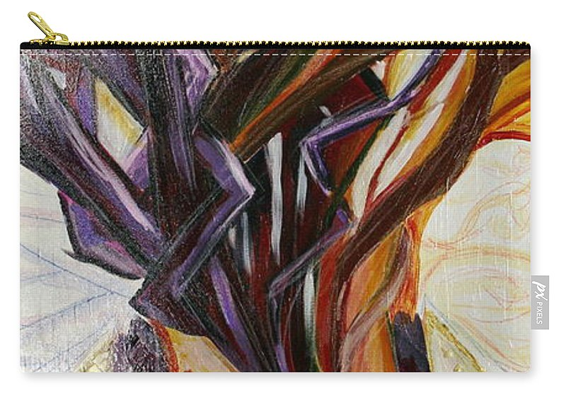 Apple Carry-all Pouch featuring the painting Fifth World Three by Kate Fortin