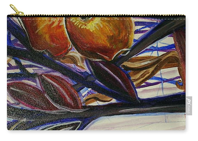 Tree Carry-all Pouch featuring the painting Fifth World Two by Kate Fortin