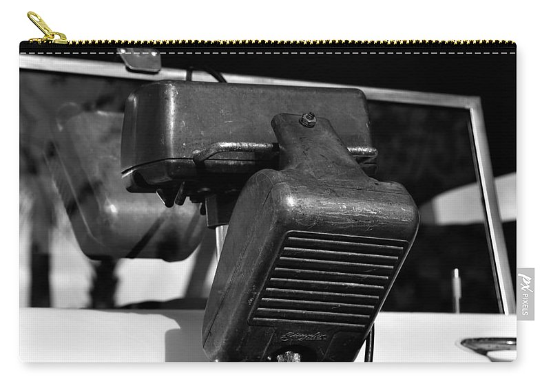 Fine Art Photography Carry-all Pouch featuring the photograph Fifties Drive In Theatre by David Lee Thompson