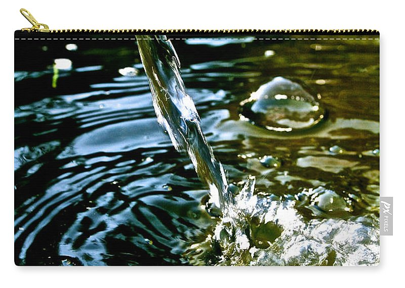 Water Carry-all Pouch featuring the photograph Fill Er Up by Susan Herber