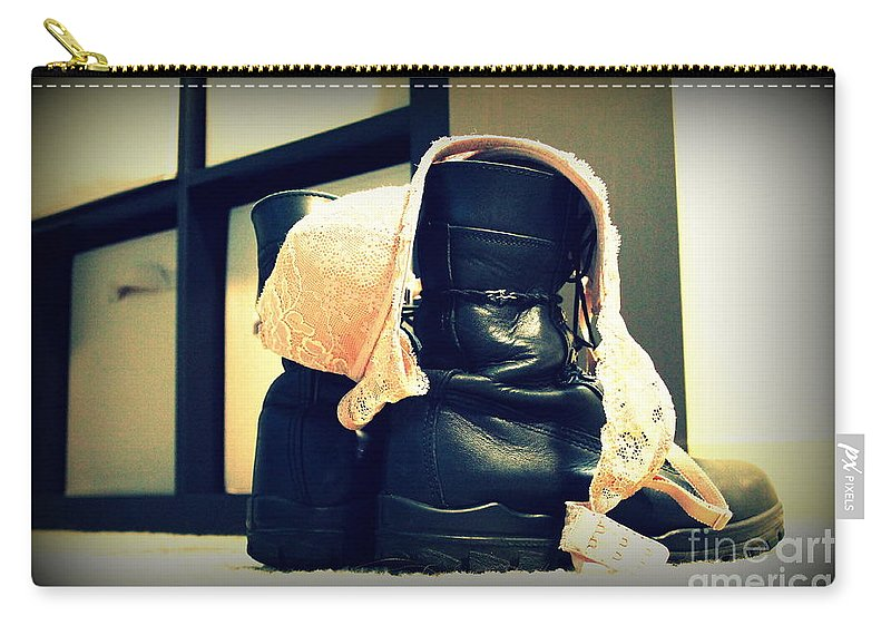 Military Carry-all Pouch featuring the photograph Finally Home by Samantha Glaze