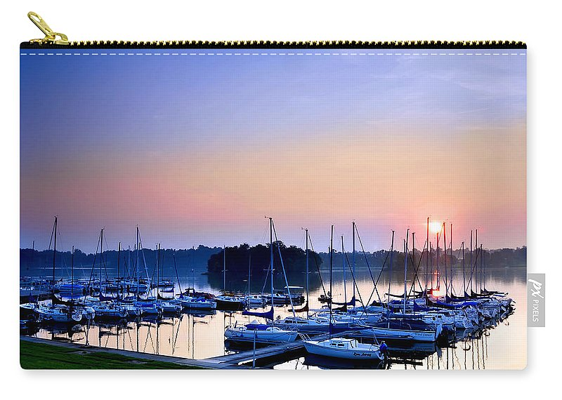 Sailing Morning Carry-all Pouch featuring the photograph Fine Sailing Morning Coming Up by Randall Branham