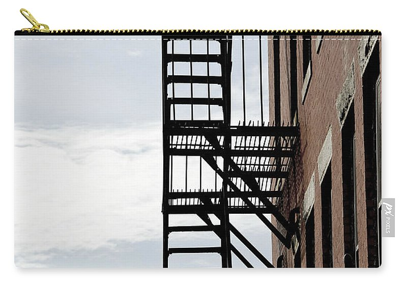House Carry-all Pouch featuring the photograph Fire Escape In Boston by Elena Elisseeva