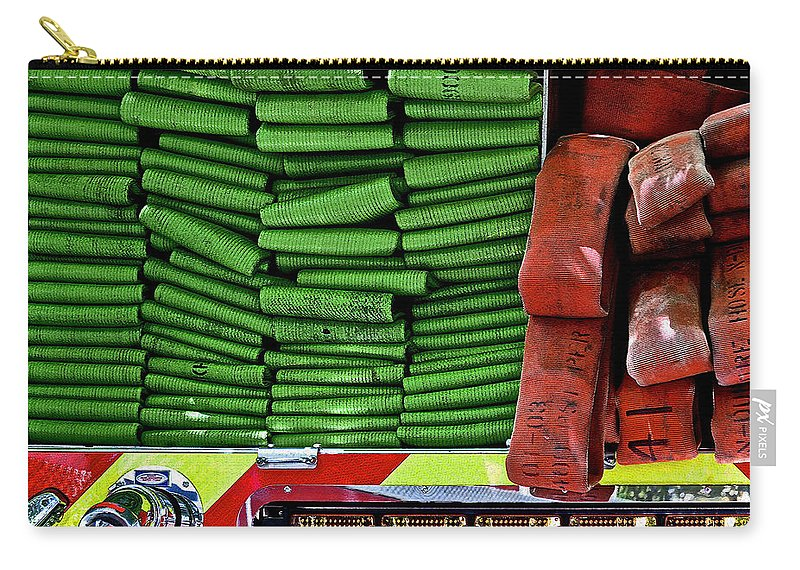 Intake Carry-all Pouch featuring the photograph Fire Hoses by Bill Owen