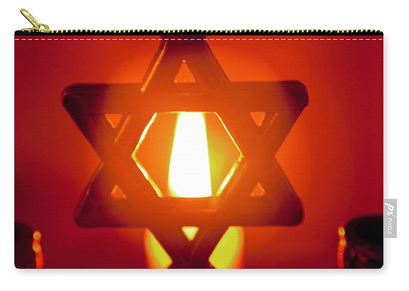 Flame Carry-all Pouch featuring the photograph Fire Of Faith by Tikvah's Hope