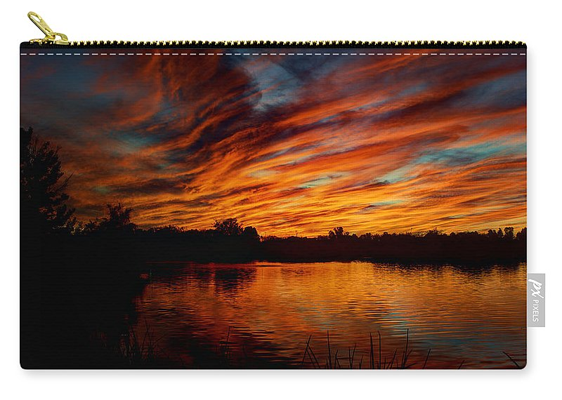 Sunset Carry-all Pouch featuring the photograph Fire Sky II by Saija Lehtonen