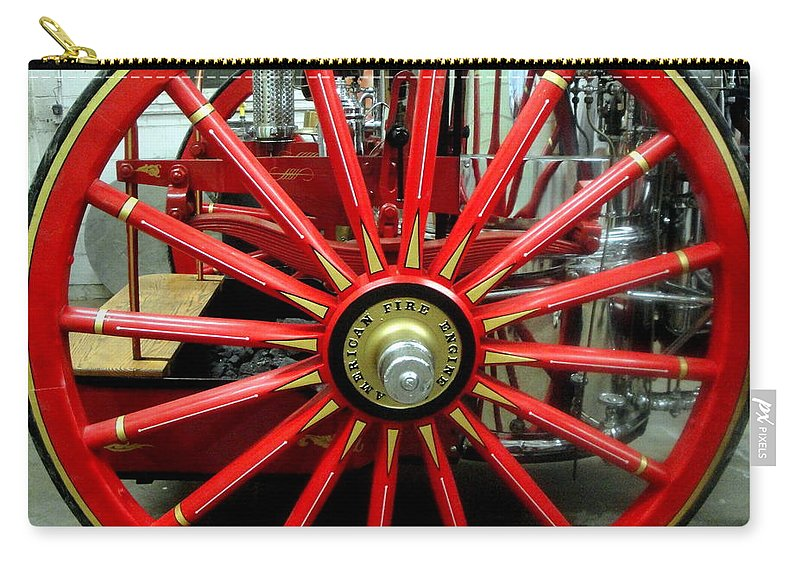 Wheel Carry-all Pouch featuring the photograph Fire Wheel by Kevin Fortier