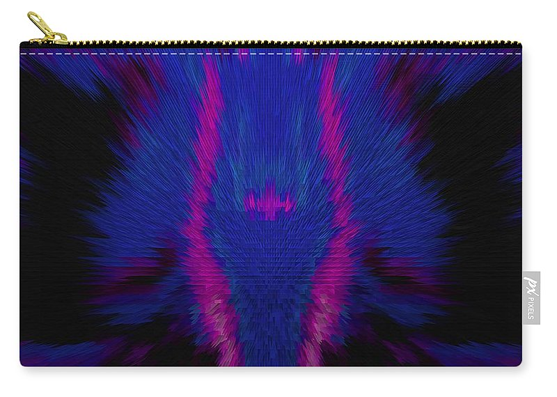 Fire Carry-all Pouch featuring the photograph Fire Wolf Abstract by DigiArt Diaries by Vicky B Fuller