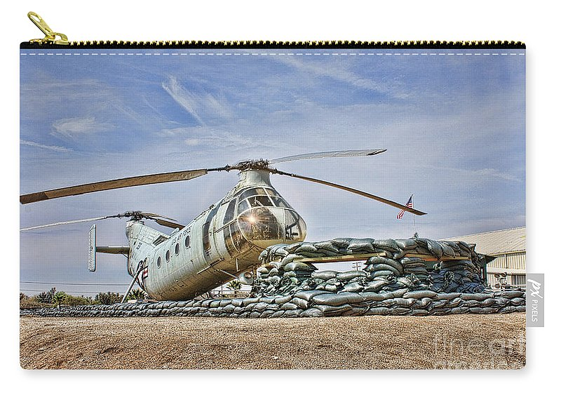 Piasecki H-21 Workhorse Shawnee Carry-all Pouch featuring the photograph Firebase Charlie Romeo 2 by Tommy Anderson