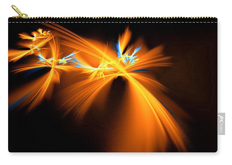 Digital Carry-all Pouch featuring the digital art Fireflies by Victoria Harrington