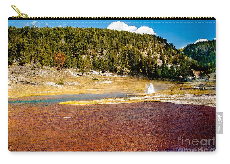 Lake Carry-all Pouch featuring the photograph Firehole Lake by Robert Bales