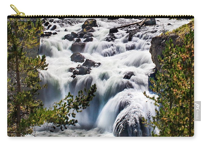 Scenic Carry-all Pouch featuring the photograph Firehole River IIi by Robert Bales