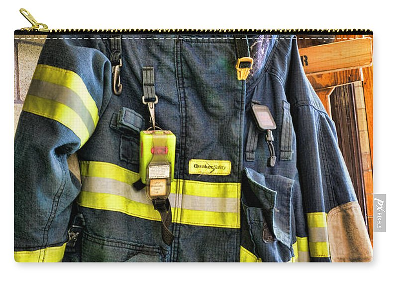 Fireman Carry-all Pouch featuring the photograph Fireman - Saftey Jacket by Paul Ward