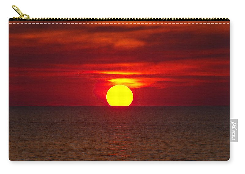 Sunset Carry-all Pouch featuring the photograph Firesky V2 by Douglas Barnard