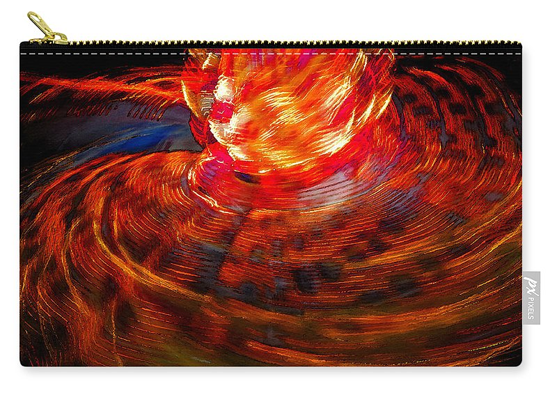 Art Carry-all Pouch featuring the painting Firestorm by David Lee Thompson