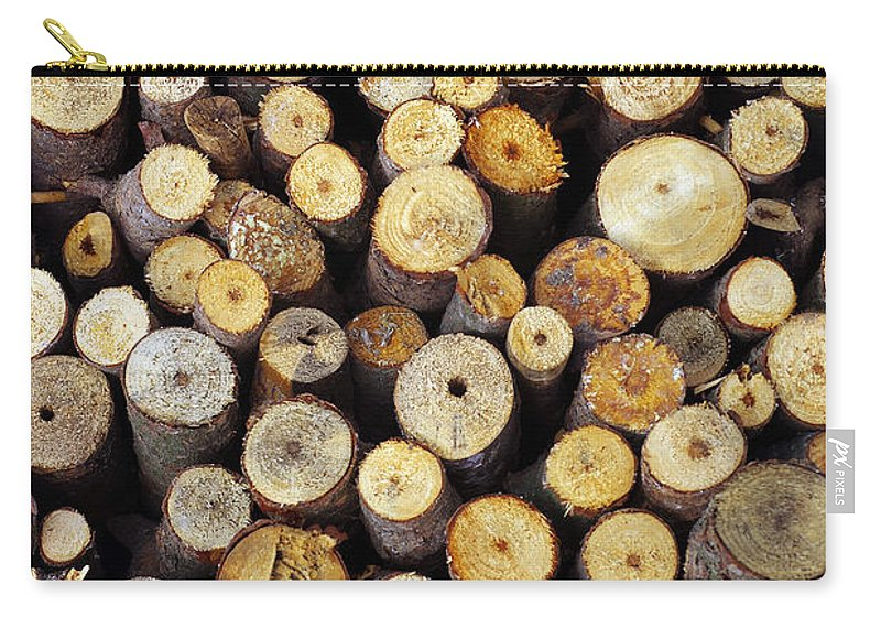 Autumn Carry-all Pouch featuring the photograph Firewood by Carlos Caetano