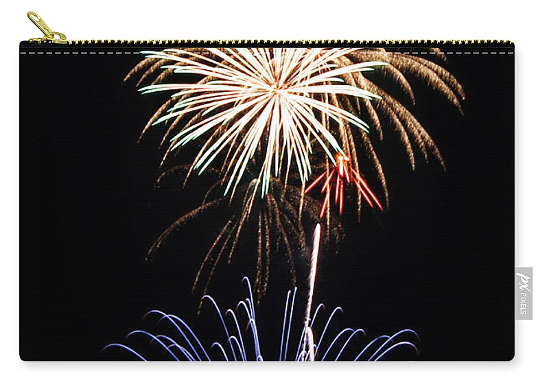 Fireworks Carry-all Pouch featuring the photograph Fireworks Abound by Bill Pevlor