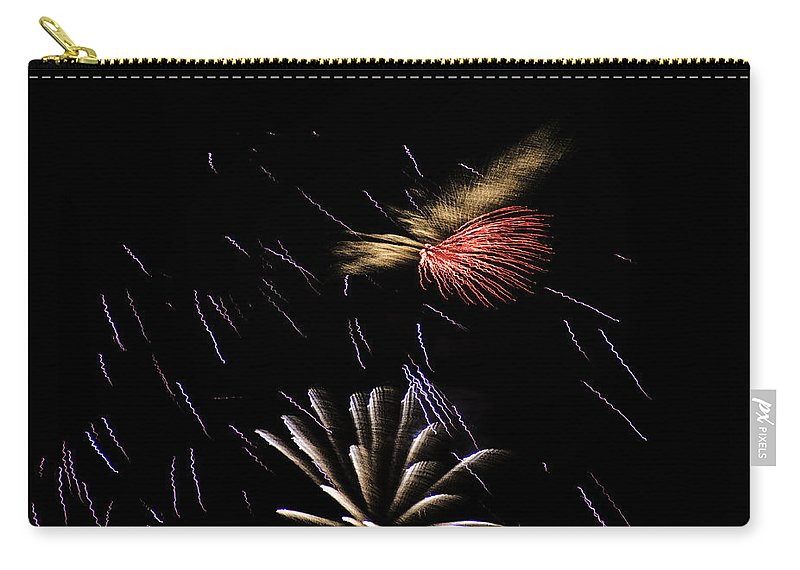Fireworks Carry-all Pouch featuring the photograph Fireworks Fun 2 by Marilyn Hunt