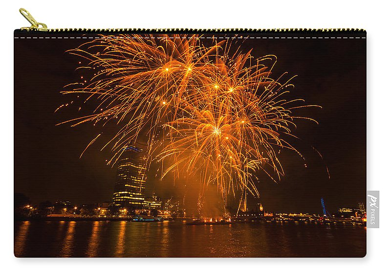 Dawn Oconnor Dawnoconnorphotos@gmail.com Carry-all Pouch featuring the photograph Fireworks London by Dawn OConnor