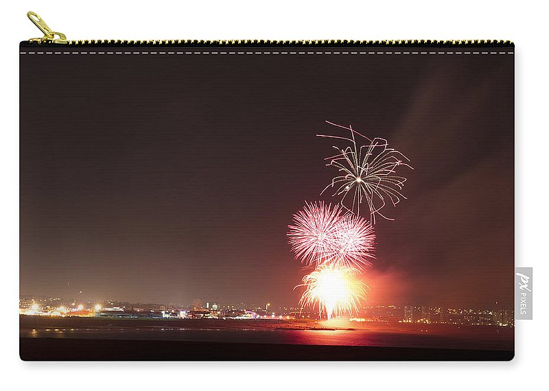 Fireworks Carry-all Pouch featuring the photograph Fireworks Over Aberdeen by Howard Kennedy