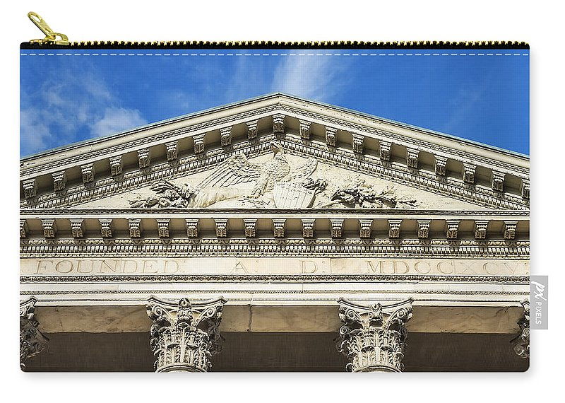 Americana Carry-all Pouch featuring the photograph First Bank Of The Usa by John Greim