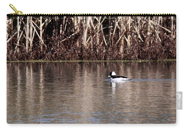 Nature Carry-all Pouch featuring the photograph First Bufflehead by Travis Truelove