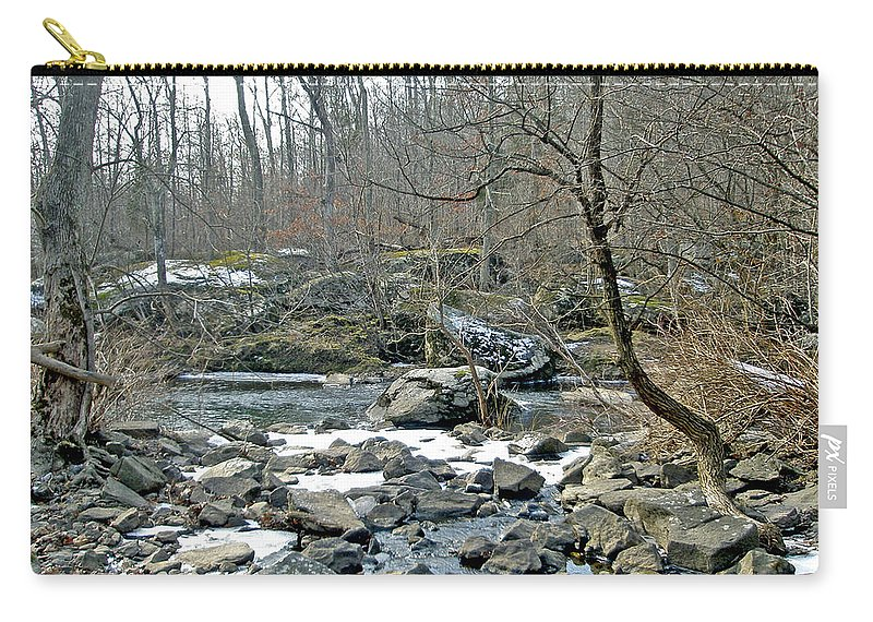 Creek Carry-all Pouch featuring the photograph First Kiss Of Winter by Mother Nature