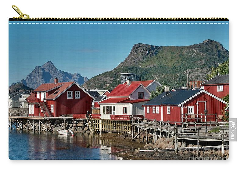 Norway Carry-all Pouch featuring the photograph Fishermen's Houses by Heiko Koehrer-Wagner