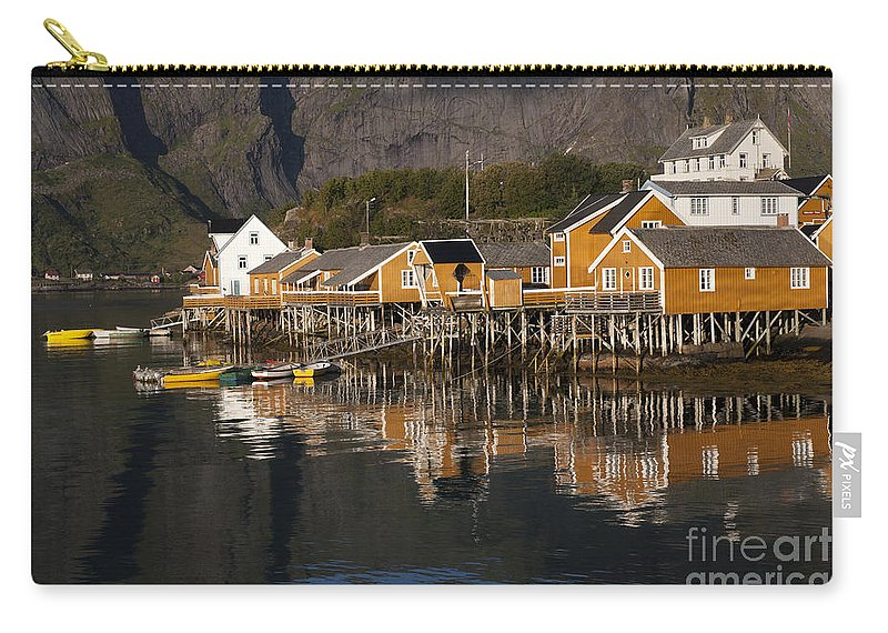 Norway Carry-all Pouch featuring the photograph Fishermen's Village Sakrisoy by Heiko Koehrer-Wagner