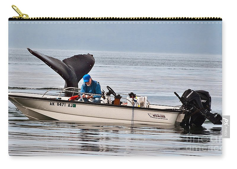 Sky Carry-all Pouch featuring the photograph Fishing For Whales by Jim Chamberlain