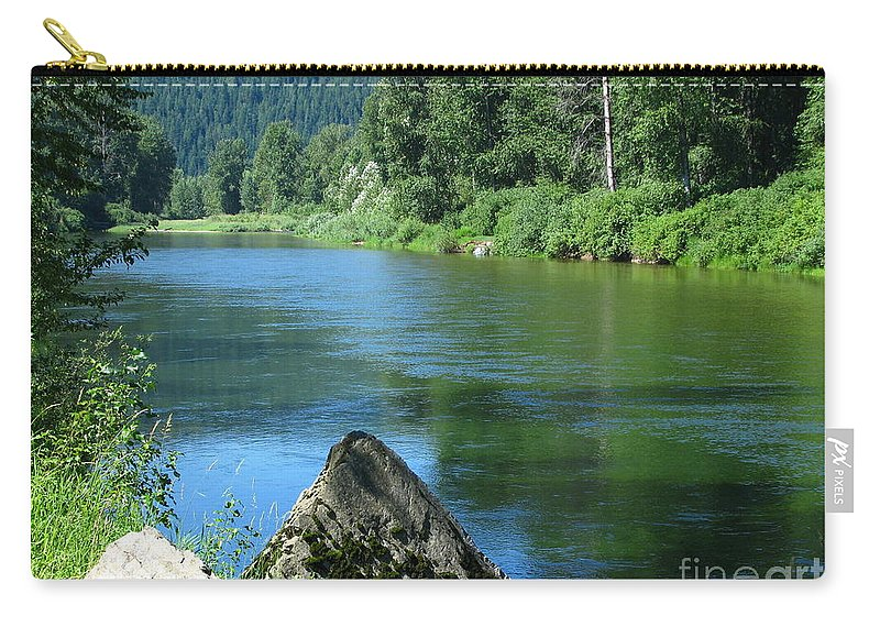 Patzer Photography Carry-all Pouch featuring the photograph Fishing Spot 4 by Greg Patzer