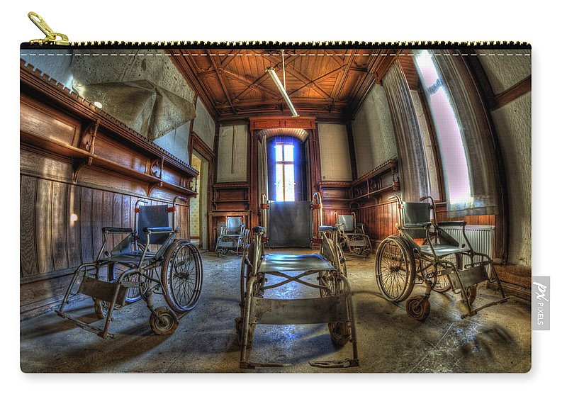 Abandoned Carry-all Pouch featuring the photograph Five Go Mad For Wheels by Nathan Wright