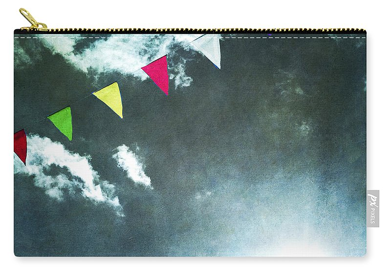 Adorned Carry-all Pouch featuring the photograph Flags by Bernard Jaubert