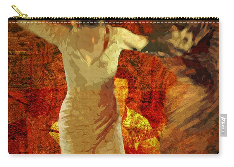 Flamenco Carry-all Pouch featuring the photograph Flamenco Series No 2 by Mary Machare