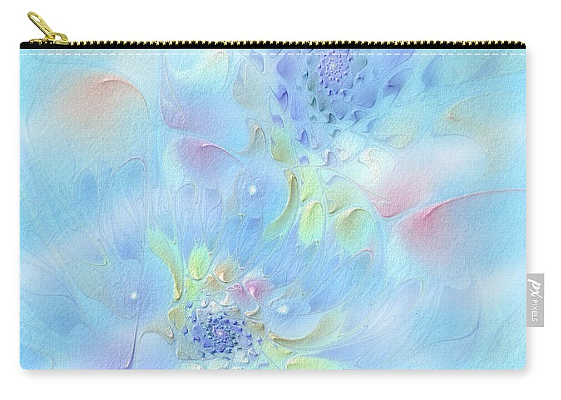 Abstract Carry-all Pouch featuring the digital art Fleur De Fantasm by Casey Kotas