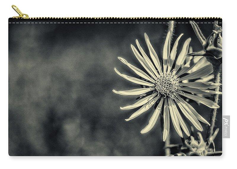 Cj Schmit Carry-all Pouch featuring the photograph Fleur Jaune by CJ Schmit