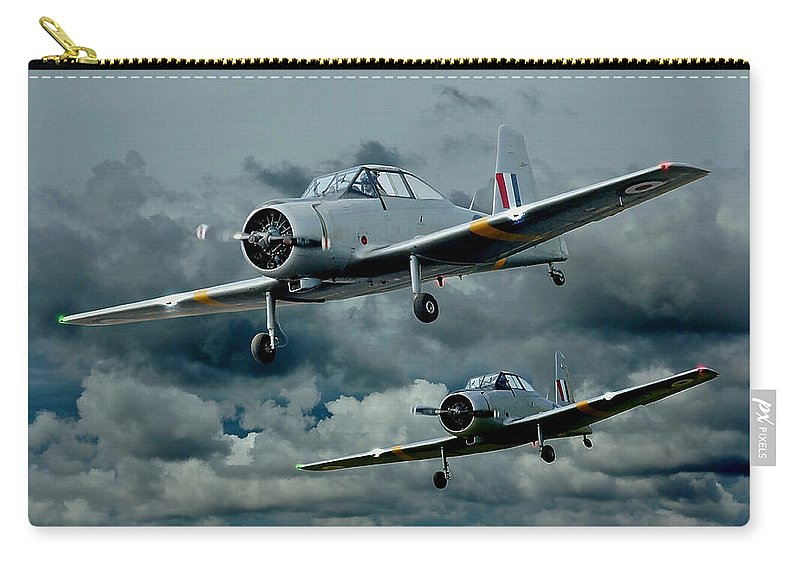 Planes Carry-all Pouch featuring the photograph Flight Of The Winjeels by Steven Agius