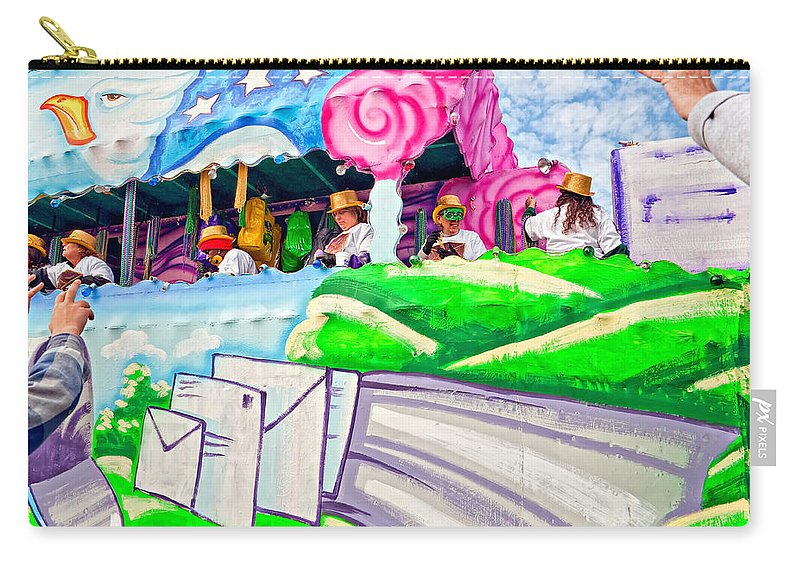 New Orleans Carry-all Pouch featuring the photograph Floating Thru Mardi Gras 4 by Steve Harrington