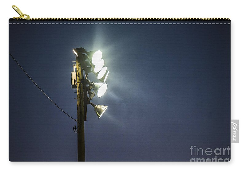 Act Carry-all Pouch featuring the photograph Floodlights by John Greim