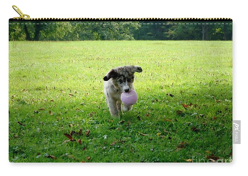 Puppy Carry-all Pouch featuring the photograph Floppy Ears by Art Dingo