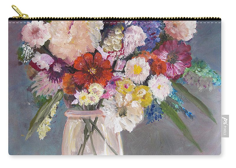 Flower Carry-all Pouch featuring the painting Floral # 2 by Marilyn Woods