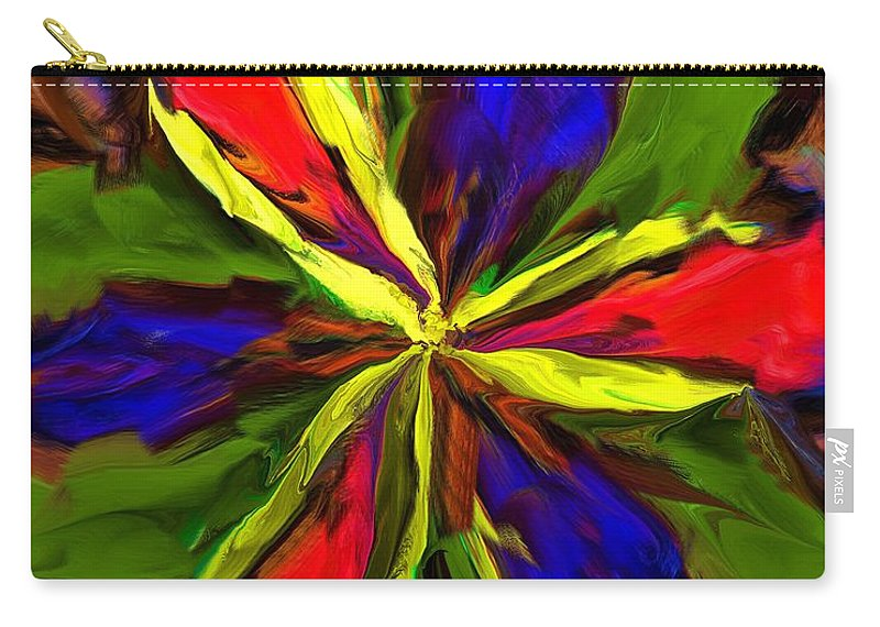Fine Art Carry-all Pouch featuring the digital art Floral Abstraction 090312 by David Lane