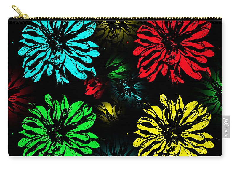 Pop Art Carry-all Pouch featuring the photograph Floral Pop Art by Aimee L Maher ALM GALLERY