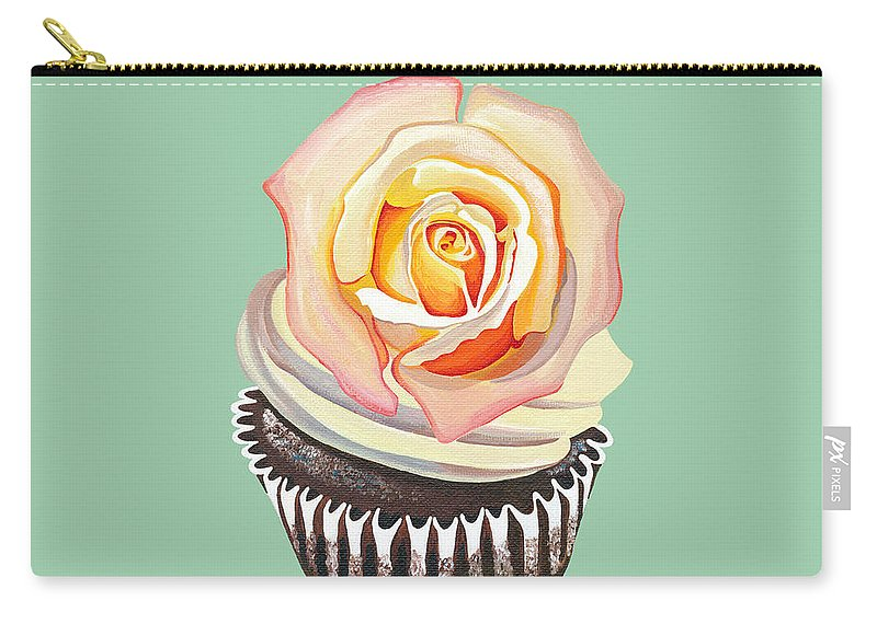 Cupcake Carry-all Pouch featuring the painting Florange Bloom by Shirley Radebach