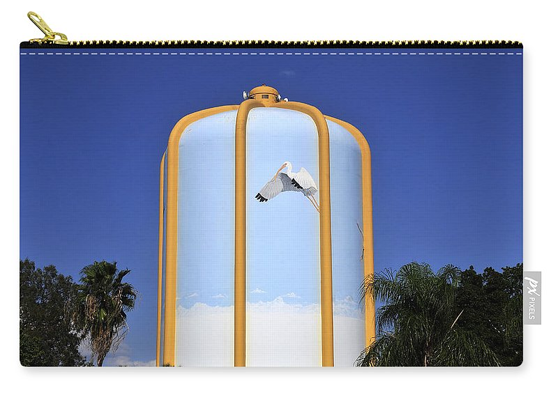 Water Tower Carry-all Pouch featuring the photograph Florida In Art by David Lee Thompson