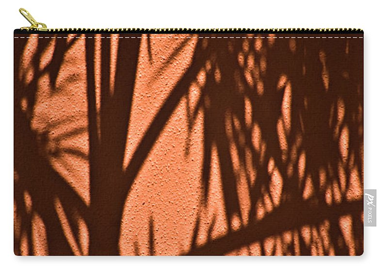 Palm Frond Carry-all Pouch featuring the photograph Florida Palm Shadow by Carolyn Marshall