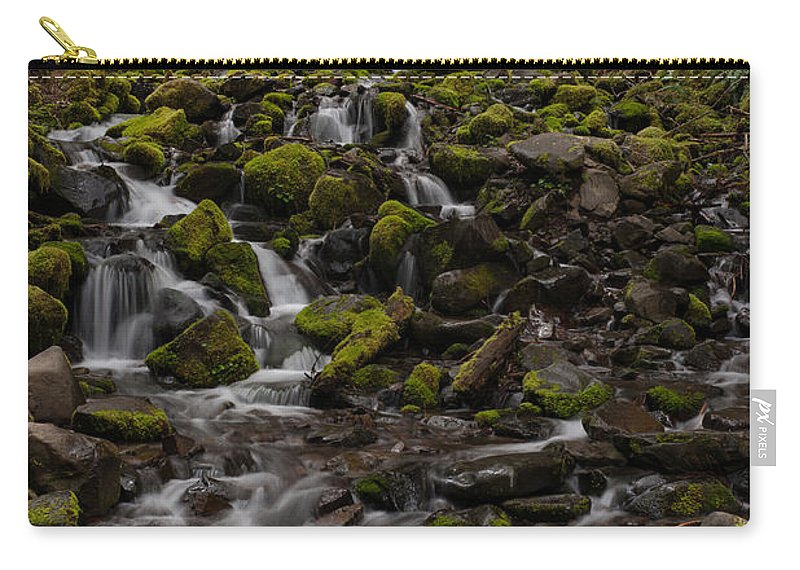 Olympic National Park Carry-all Pouch featuring the photograph Flow Of Life by Mike Reid