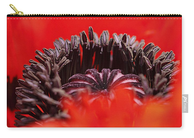 Flower Carry-all Pouch featuring the photograph Flower Heart by Raffaella Lunelli