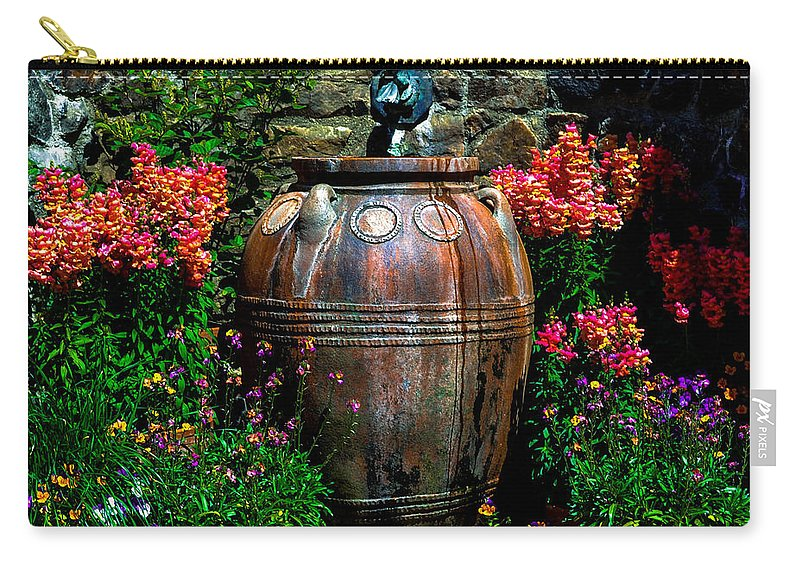 Flowers Carry-all Pouch featuring the photograph Flower Potts by Wanda J King